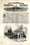 1846 ILLUSTRATED LONDON NEWS Irvine Toxopholite Society ARCHERY St Michaels Mount PENZANCE Antique Newspaper (8220)